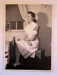 Vintage Photo of a Student Nurse by plaidpearls on Etsy, $14.99