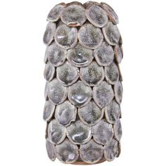 Dot vase, fancy grå