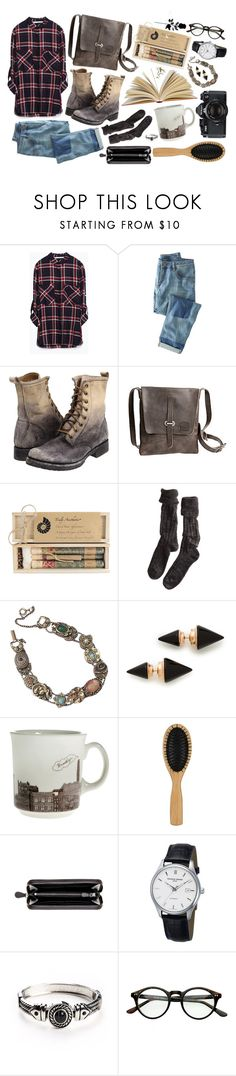 """Winter 2015 (Last days in school)"" by freakoholic ❤ liked on Polyvore featuring Zara, Wrap, Frye, Overland Sheepskin Co., Truly Aesthetic, Polder, Goldette, Vita Fede, Nikon and John Lewis"