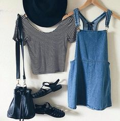 overall dress outfit