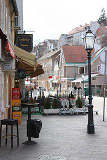 Tkalčićeva street in Zagreb, Croatia