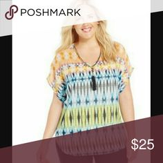 NY Collection Plus Size Printed Tassel Top NY Collection Plus Size Printed Tassel Top NY Collection Tops