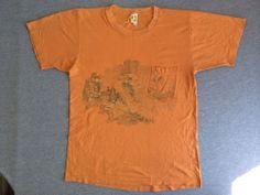 Vintage 60's HANG TEN Shirt USA Made Pocket Board T-shirt Cotton Hang 10 Large