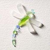 sea glass dragonfly