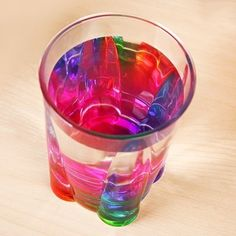 A cup that makes your drinks look more colorful.
