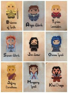 Game of Thrones Embroidered ABC project | Amandinesix on Deviant Art