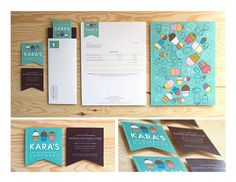Student work, Visual Design & Type, The Academy of Art University, San Francisco, CA. Art direction, photography & design of rebrand campaign for a local cupcake company, Kara's Cupcakes.