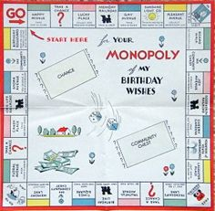 Pin by the 1923 philadelphia folk monopoly game 2014 mgholcombe monopoly birthday card 1935 bookmarktalkfo Choice Image