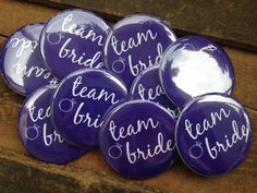 SET OF 15 Bachelorette Party Buttons  Team Bride by DeighanDesign