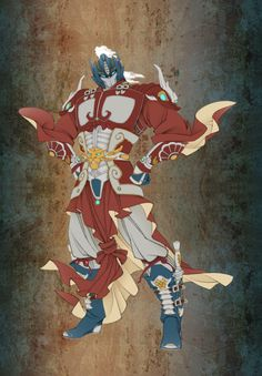 Chinese military commander style Optimus Prime by Zhang Wang