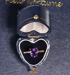 Heart Jewelry - Solid 14k Yellow Gold 8mm 2 Cttw Genuine Faceted Amethyst Heart Ring $214.00
