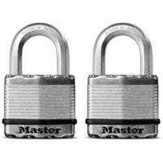 Padlocks: Master Lock Padlocks Magnum 2 in. Laminated Steel Padlock Silver metallic M5XTCCSEN, As Shown