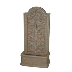 The Capistrano - Fountain by Bond Manufacturing features an enduring look of an Old World water spigot, the Cailin fountain has a large water basin that creates robust sound. Decorative designs enhance the beauty of this flat backed water fountain perfect for patios and decks alike. Visit PatioProductsUSA.com to purchase now! #waterfountain #outdoordecor #bondmanufacturing Italian Patio, Garden Water Fountains, Outdoor Fountains, Wall Fountains, World Water, Outdoor Living, Outdoor Decor, Outdoor Spaces, Outdoor Furniture