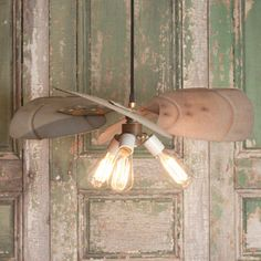 Industrial Lighting With Industrial Fan Blade by lucentlampworks