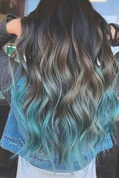 Bold Ombre Hair Color For Ladies 2019 Ombre Hair pastel ombre hair Cute Hair Colors, Pretty Hair Color, Hair Dye Colors, Hair Color Blue, Hair Color Ideas For Dark Hair, Teen Hair Colors, Peekaboo Hair Colors, Hair Color For Women, Ombre Hair Color For Brunettes
