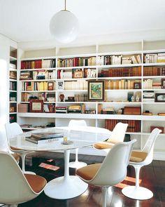 great wall of bookshelves