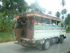 Furgoncini Dalla Dalla, tipici dell'isola che fungono da autobus per il trasporto di turisti!