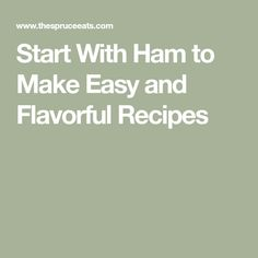 Make these delicious and hearty recipes that all start with ham, including Ham Sandwiches with Blueberry Chutney and Ham Filo Roll. Quick Recipes, Chutney, Ham, Make It Simple, Blueberry, Pork, Easter, How To Make, Pork Roulade