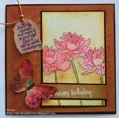 Tim Holtz Flower Garden stamps and Butterfly duo