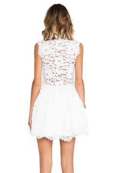 Alexis Antilles scalloped detailed lace dress