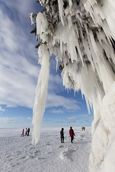 Ice caves, Apostle Islands National Lakeshore, Wisconsin