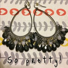 Pretty black earrings. Pretty black earrings. Accessories