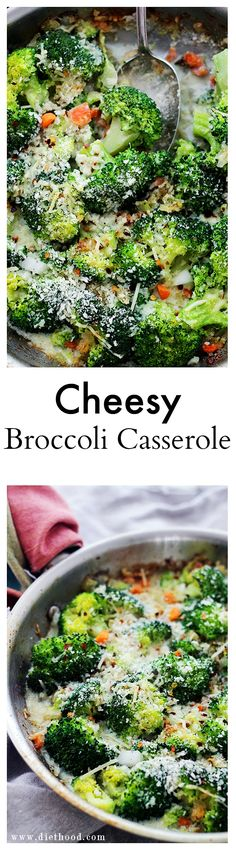 Cheesy Broccoli Casserole - An amazing vegetarian dinner with broccoli florets, veggies and cheese! @diethood