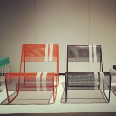 Great modern mesh outdoor chairs from Markamoderna. #ICFF