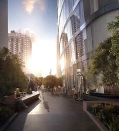 The amenity plaza at 50 West.DBOX 2014