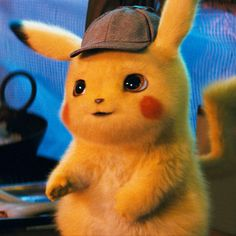 """If you want to see Ryan Reynolds as a cute, little yellow mouse but don't know anything about Pokemon creatures, this """"Detective Pikachu"""" guide will help. Cute Pokemon Wallpaper, Cute Cartoon Wallpapers, Animes Wallpapers, Pikachu Cat, Pikachu Drawing, Pichu Pokemon, O Pokemon, Cute Baby Animals, Dinosaur Stuffed Animal"""