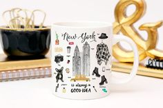 27 Essential Items For City Slickers New York City, Glass Dropper Bottles, City Slickers, Essentials, Nyc, Design Show, Mug Cup, New York Fashion, Coffee Cups