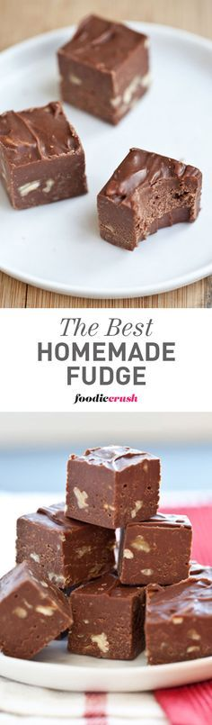 My mom makes this homemade fudge every Christmas, only at Christmas, and usually eats it for breakfast with her coffee. Yes, it's THAT good. | foodiecrush.com #recipe #fudge #Christmas