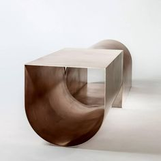 "virtualgeometry: "" Bronze U Bench - / Christopher Stuart / 2010 "" Diy Home Furniture, Design Furniture, Table Furniture, Furniture Projects, Furniture Makeover, Design Blog, Deco Design, Dyi Decorations, Table Design"