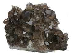 Smoky Quartz Crystal Cluster. Glaciar de Talefre, Mont Blanc, France. 20x17x10 cm.