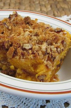 "Sweet Potato Crunch | ""Amazing!! Love this recipe. I'm not a huge fan of sweet potatoes but this recipe made me love them!! Made this for a family party and everyone loved it!"" #thanksgiving #thankgivingrecipes #thanksgivingsidedishes Mashed Sweet Potatoes, Sweet Potato Casserole, Healthy Meal Prep, Healthy Breakfast Recipes, Thanksgiving Side Dishes, Thanksgiving Recipes, Sweet Potato Crunch, Crunch Recipe, Food Cravings"