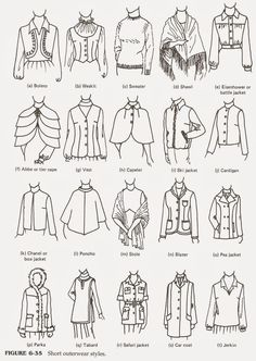 Fashion infographic & data visualisation SHORT OUTERWEAR… Alternatives for custom orders… Memorizing the Style Featu… Infographic Description SHORT OUTERWEAR… Alternatives for custom orders… Memorizing the Style Features – Infographic Source – Fashion Design Sketchbook, Fashion Design Drawings, Fashion Sketches, Drawing Fashion, Dress Design Sketches, Clothing Sketches, Women's Clothing, Fashion Terminology, Fashion Terms