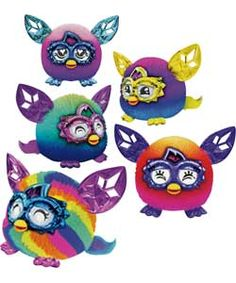 Pink to purple Ombre  Furby Furblings Crystal Series Assortment