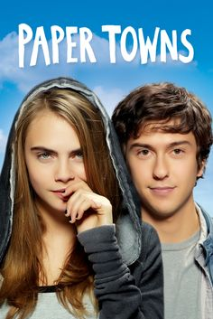 Paper Towns Movie Poster - Nat Wolff, Cara Delevingne, Halston Sage  #PaperTowns, #MoviePoster, #Drama, #JakeSchreier, #CaraDelevingne, #HalstonSage, #NatWolff