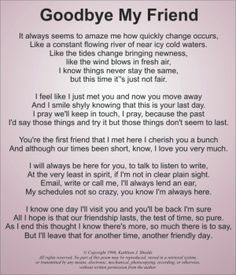 Goodbye Poems for Friends Farewell Poems in Friendship Friendship