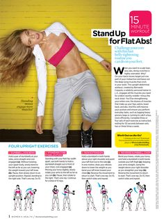 15-min Stand Up Flat Abs Workout # weight loss #fitness #Emily Orr