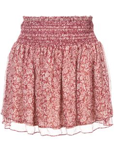 5e83ab5a2fa3 Red silk blend floral print mini skirt from Vanessa Bruno Athé.