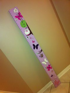custom wooden growth chart for a girl`s room.  outdoors (owls and butterflies) theme.  Can be made custom by Signs By Design. Email info@signsbydesign.ca for more info. Custom Art, Custom Design, Autumn Room, Growth Charts, Girl Rooms, Playroom, Diy Ideas, Owl, Diy Projects