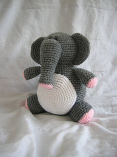 Eleanor the Elephant - Amigurumi Crochet PATTERN ONLY (PDF). $3.50, via Etsy.