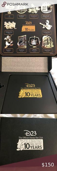 Disney Official Fan Club 10 Year Anniversary Pins Disney D23 Official Fan Club 1...#anniversary #club #d23 #disney #fan #official #pins #year One Year Anniversary Gifts, 10 Anniversary, Skeleton Dance, Fall Wedding Flowers, 10 Years, Fan, Club, Disney, Memories