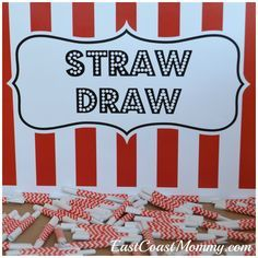 """This site has a bunch of fantastic carnival games and activities... including this simple """"straw draw"""" game."""