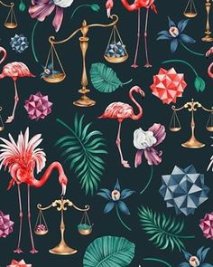 patternbankcomaniadergachevI love to imagine weird and unlikely to happen situations If I try to imagine an alchemy laboratory in on a tropical island that how it would feelfashionfeaturesocial fashionfeature SurfacePatternCmmunity thepatterncurator aartisticdreamers flamingo alchemy aniadrg textileillustration textiledesigner surfacepatterns idesignpatterns patternObserver artistfeatures artistshoutout artempire patterndesigners surfacepatternprint patternbank aniadrg