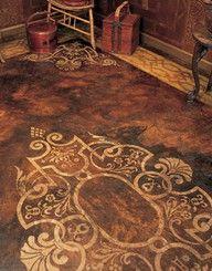 Stenciled Floor ♫ La-la-la Bonne vie ♪