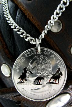 Team Roper Western Cut Coin by NameCoins on Etsy, $29.99