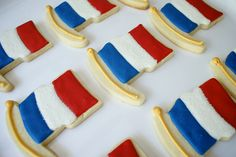 This is the French flag, but it would be nice to just have a flag cookie cutter!