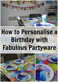 How to Personalise a Birthday with Fabulous Partyware